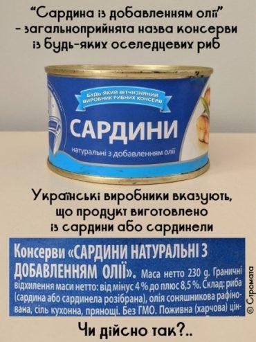 """Чому в консервах """"Сардина"""", які виготовлені у країнах ЄС, лежать маленькі рибки, а в консервах вітчизняного виробництва сардини втричі товщі?"""